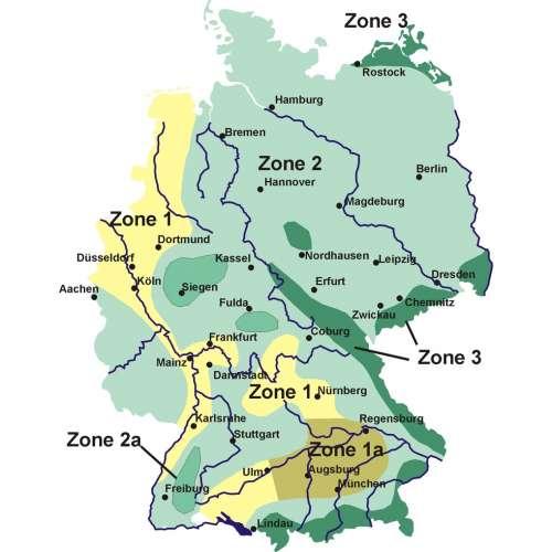 Schneelastzonenkarte Deutschland