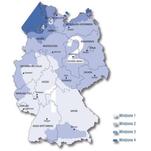 Windlastzonenkarte Deutschland