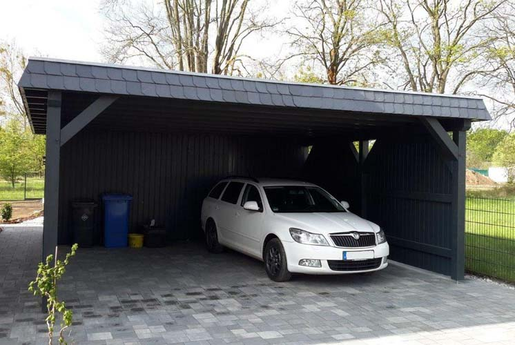 Flachdach-Carport CarportUnion