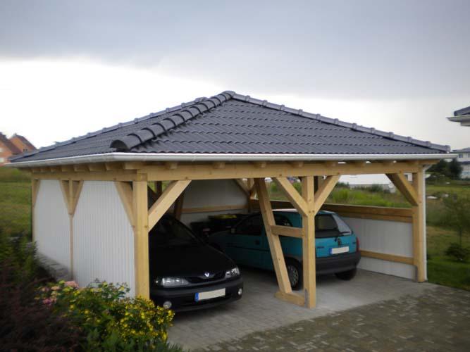 Walmdach-und Pultdach Carport CarportUnion