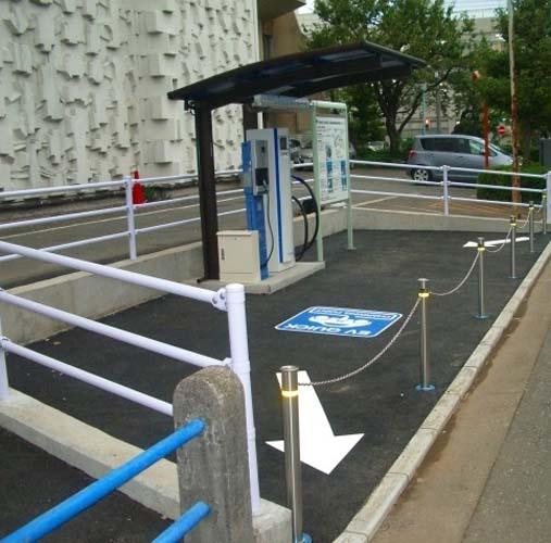 Aluminium-Überdachung für Stromtankstellen